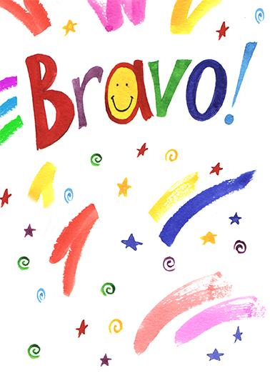 Bravo Congratulations Card Cover