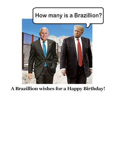 Brazillian Trump Birthday Card Inside