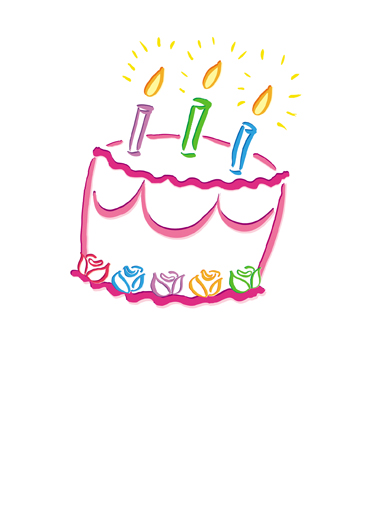 Bright Cake  Card Cover