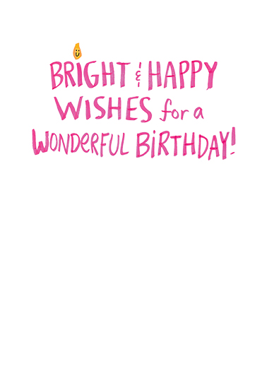 Bright and Happy Wishes Funny Heartfelt Card Inside