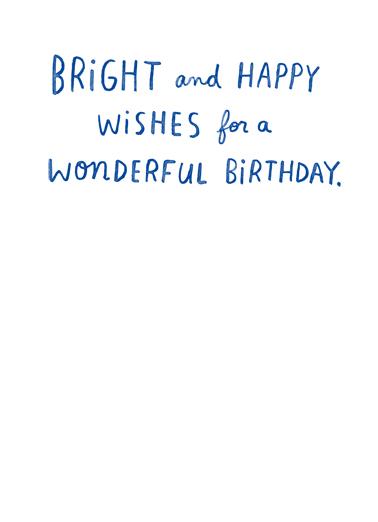 Brightest in April April Birthday Card Inside
