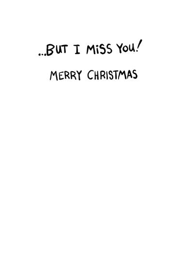 Broken Up XMAS Christmas Card Inside