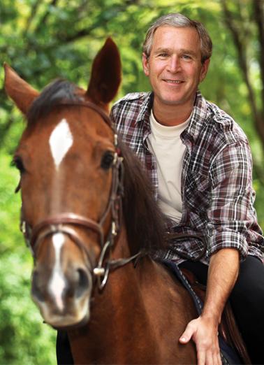 Bush on Horse  Card Cover