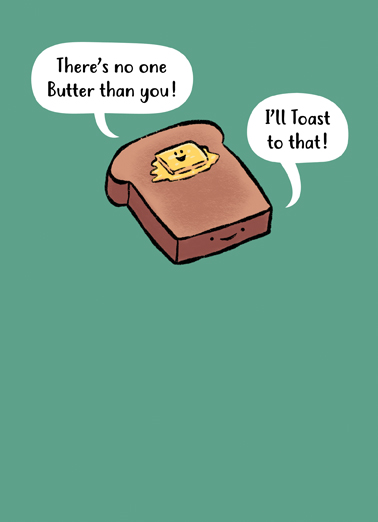 Butter Toast Birthday Card Cover