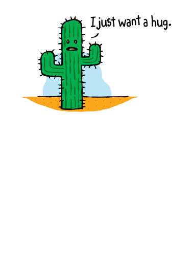 Cactus Hug National Hug Day Ecard Cover
