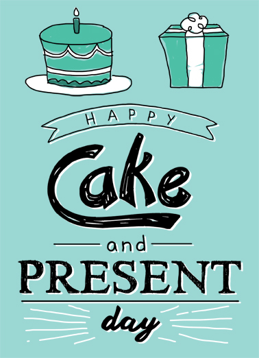 Cake and Present Birthday Ecard Cover
