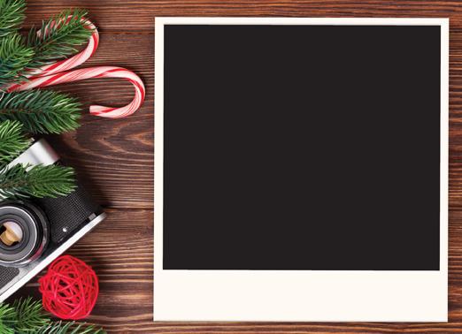 Camera Christmas Flat Christmas Card Cover