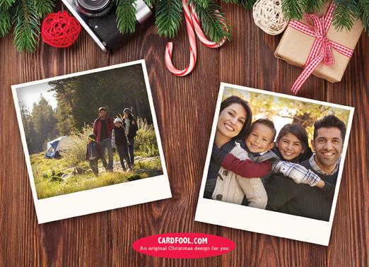 Camera Christmas Flat Christmas Card Inside