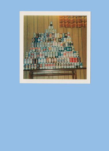 Can Menorah Hanukkah Card Cover
