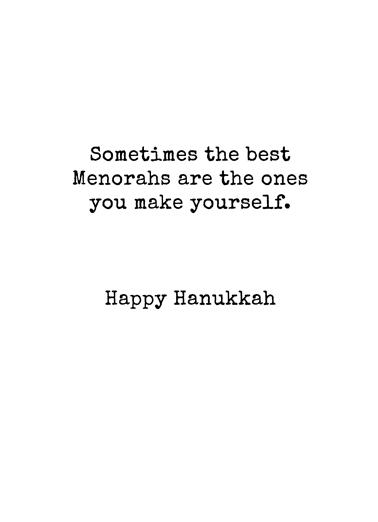 Can Menorah Hanukkah Card Inside