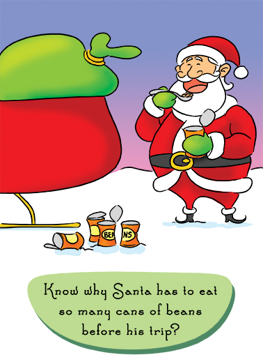 Can of Beans Christmas Ecard Cover