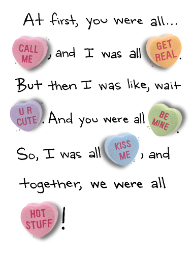 Candy Heart Story Valentine's Day Card Cover