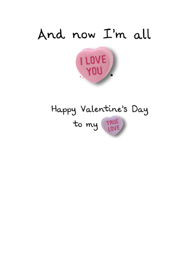 Candy Heart Story Valentine's Day Card Inside
