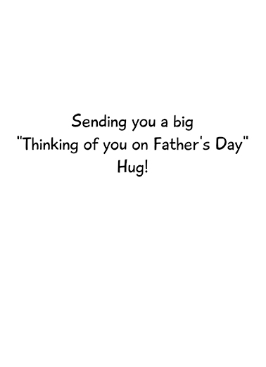 Cat Hug FD Father's Day Ecard Inside