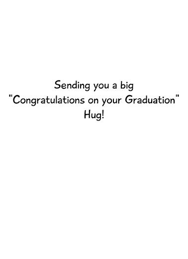 Cat Hug Grad Graduation Card Inside