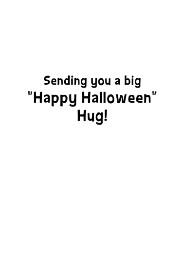 Cat Hug Hal Halloween Card Inside