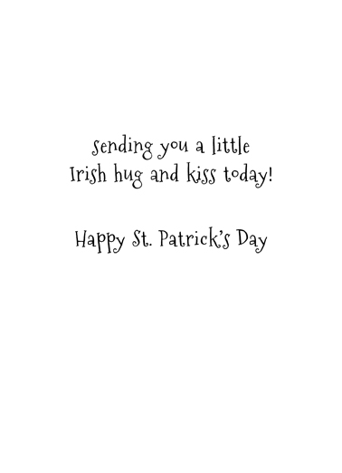 Cat Hug St Pat St. Patrick's Day Card Inside