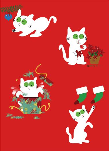 Cat Kitten Favorite Things Christmas Card Cover