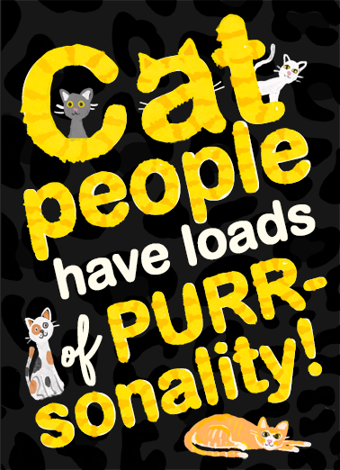 Cat People Birthday Card Cover