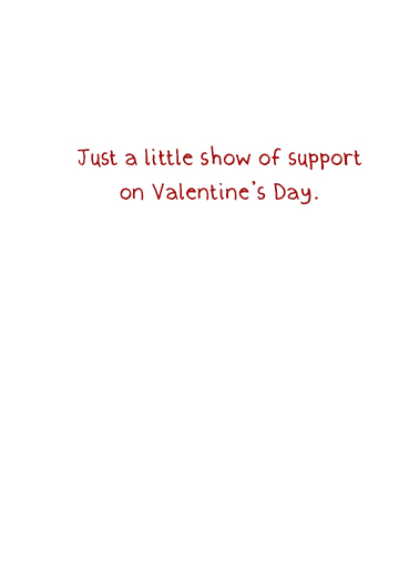 Cat Support Val Valentine's Day Ecard Inside