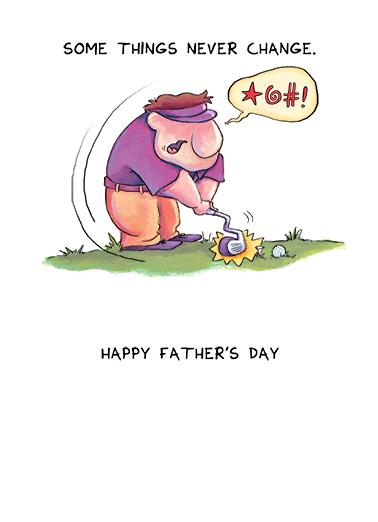 Caveman Golf FD Father's Day Card Inside