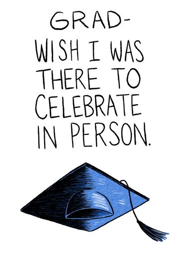 Celebrate In Person Grad Graduation Card Cover