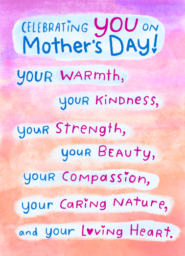 Celebrating You MD Mother's Day Card Cover