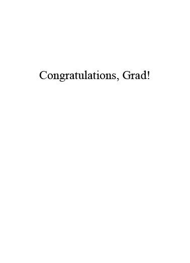 Chalkboard Graduation Card Inside
