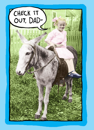 Check It Out Dad Funny Animals Ecard Cover