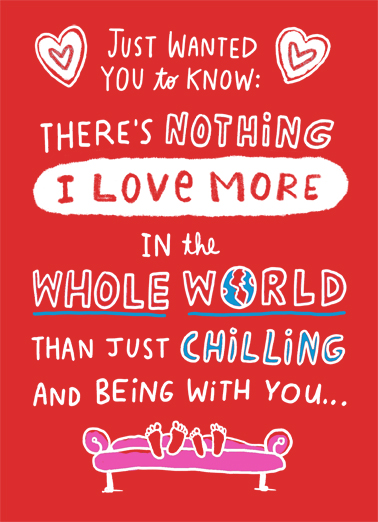 Chilling With You Valentine's Day Ecard Cover