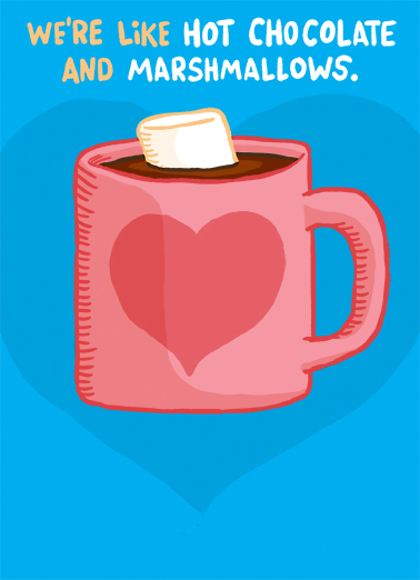 Chocolate & Marshmallow Valentine's Day Ecard Cover