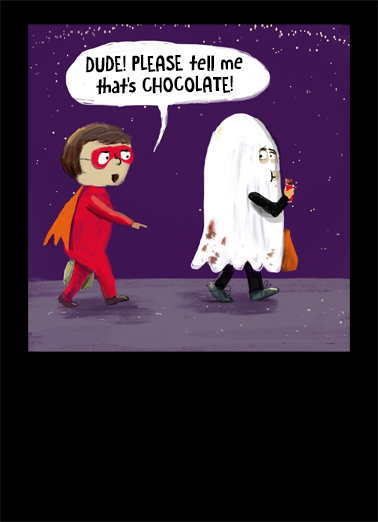 Chocolate on Sheet Halloween Card Cover