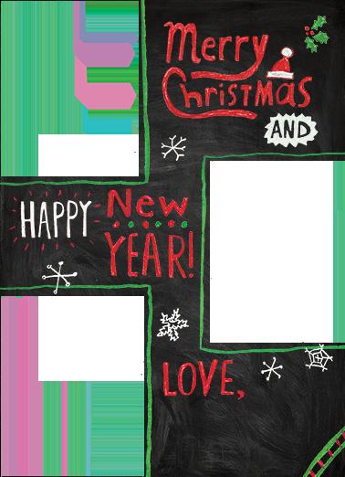 Christmas Chalk Board Christmas Card Cover
