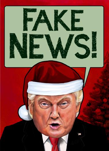 Christmas Fake News Funny Political Ecard Cover