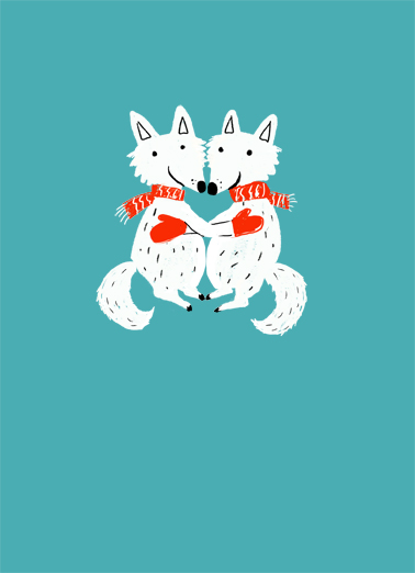 Christmas Foxes Christmas Card Cover