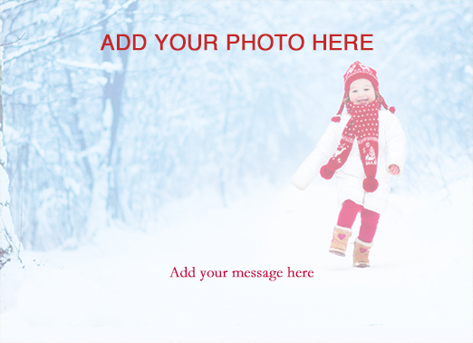 Fun Add Your Photo Christmas Cards and Flats Sweet christmas full-bleed photo template | photography, border, shining, bright, pictures, hi-res, resolution, bleed, full, beautiful