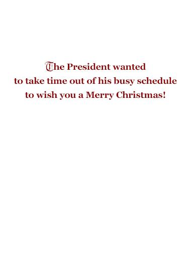 Christmas President Golfing  Ecard Inside