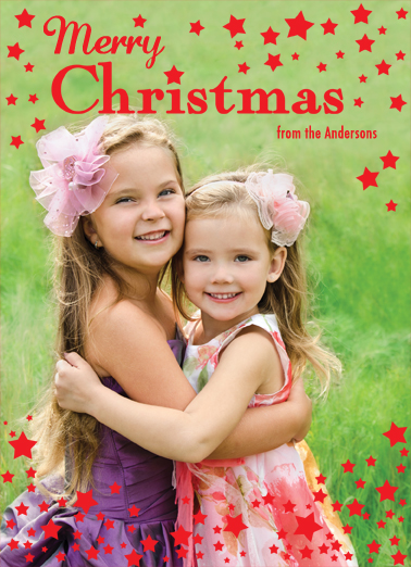Fun Add Your Photo Christmas Cards and Flats Merry Christmas stars add photo happy holidays