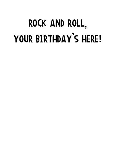 Cicada Tour Birthday Card Inside