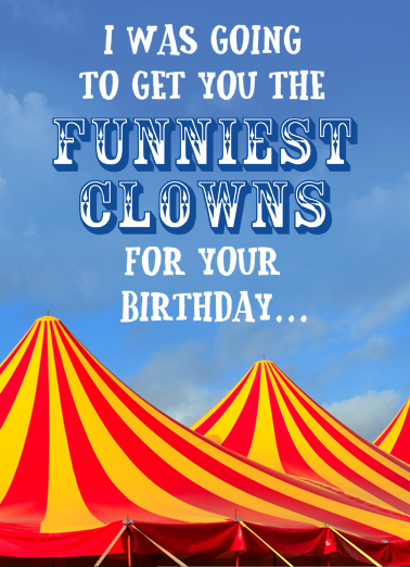 Circus Clowns President Donald Trump Card Cover