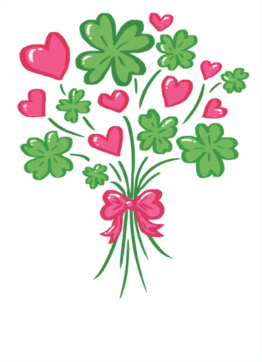 Clover Bouquet St. Patrick's Day Card Cover