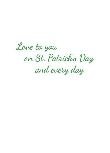 Clover Bouquet St. Patrick's Day Card Inside