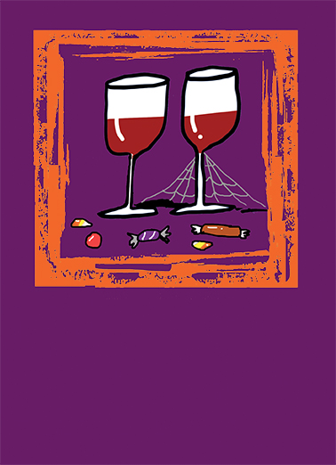 Cob Web Wine Drinking Card Cover