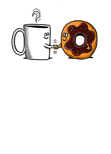 Coffee and Donut Business Cards Card Cover