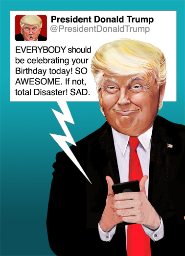 Commander in Tweet White House Ecard Cover