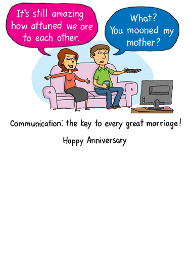 Communication Anniversary Card Inside