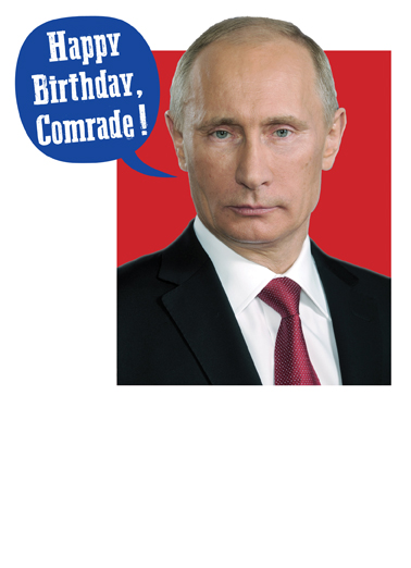 Comrade Birthday Card Inside