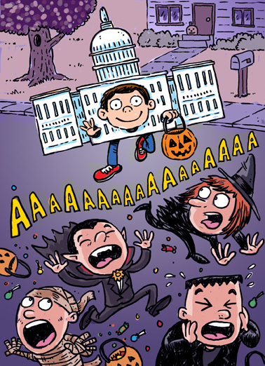 Congress Costume Halloween Card Cover