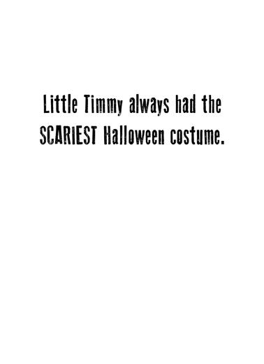 Congress Costume Halloween Card Inside