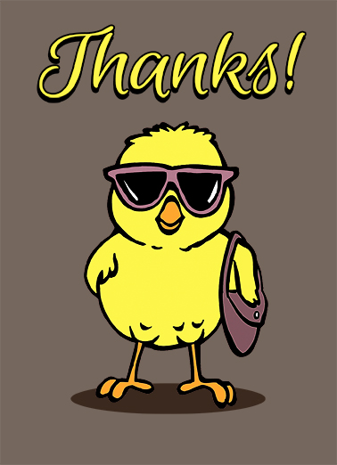 Cool Chick Thank You Card Cover